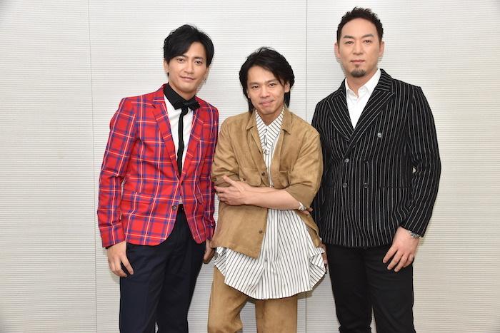 中河内雅貴、中川晃教、福井晶一(左から)