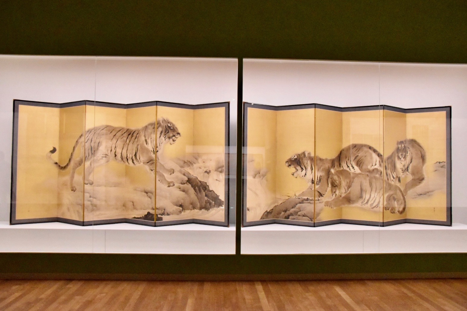 岸竹堂 《猛虎図》 明治23年(1890) 株式会社 千總蔵 東京展:前期展示