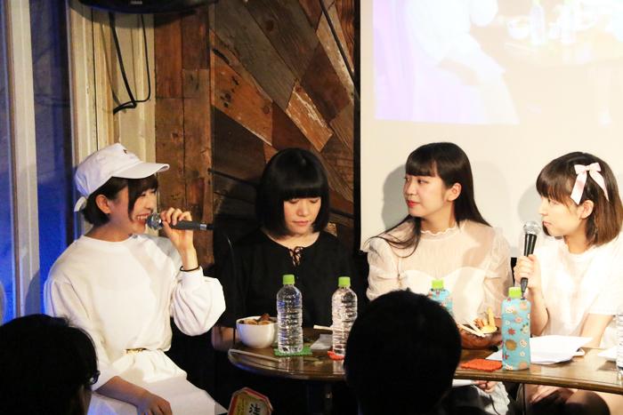 (左から)小嶋りん、一色萌、小日向まお、楠芽瑠