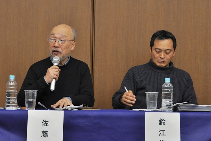 (左から)佐藤信、鈴江俊郎。