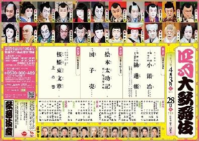 歌舞伎座『四月大歌舞伎』 4/17から第三部の開演時間を15分繰り上げて上演