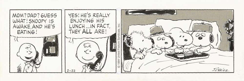 「ピーナッツ」原画 1994年2月22日 (C)Peanuts Worldwide LLC