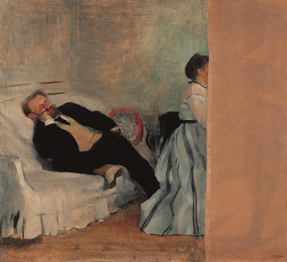 エドガー・ドガ《マネとマネ夫人像》 1868-69年  油彩、カンヴァス 北九州市立美術館