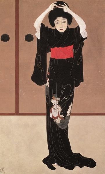 ≪鏡の前≫大正4年(1915) 滋賀県立近代美術館