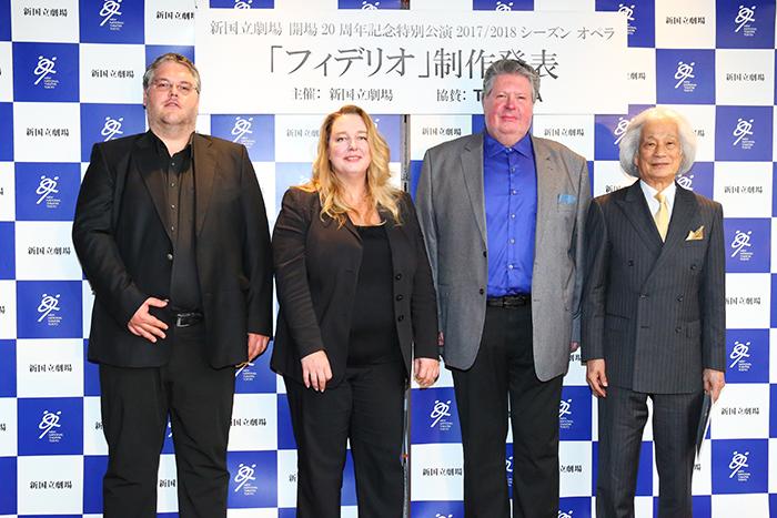 左からダニエル・ウェーバー、カタリーナ・ワーグナー、ステファン・グールド、飯守泰次郎