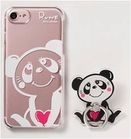 左:iPhoneケース(税込1,944円) 右:スマホリング(1,728円)