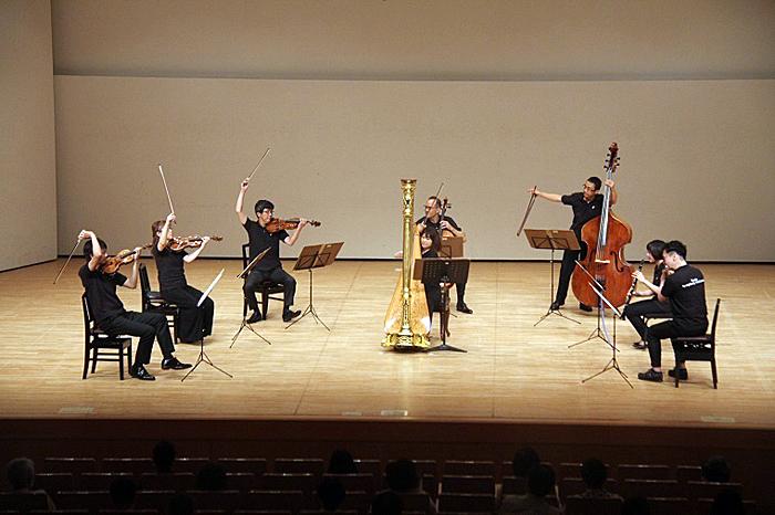 最後は京響主要メンバーで、ラヴェルの「序奏とアレグロ」を演奏。 (C)H.isojima