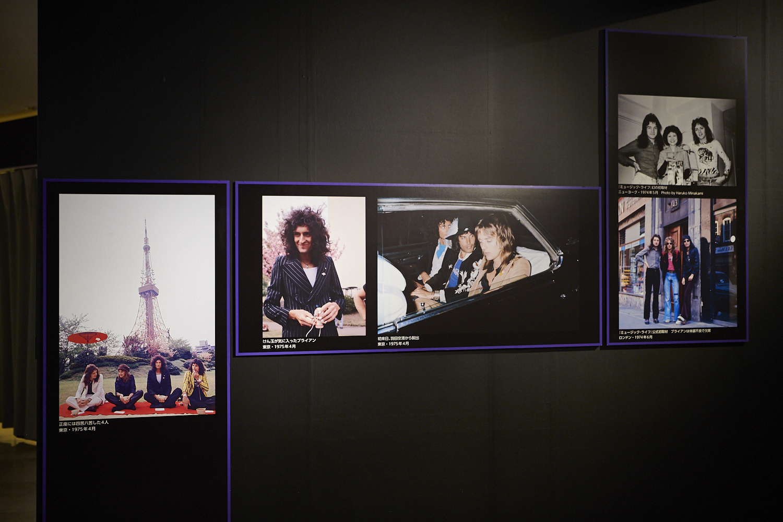来日時のオフショット含め、会場には140点以上の写真やパネルが