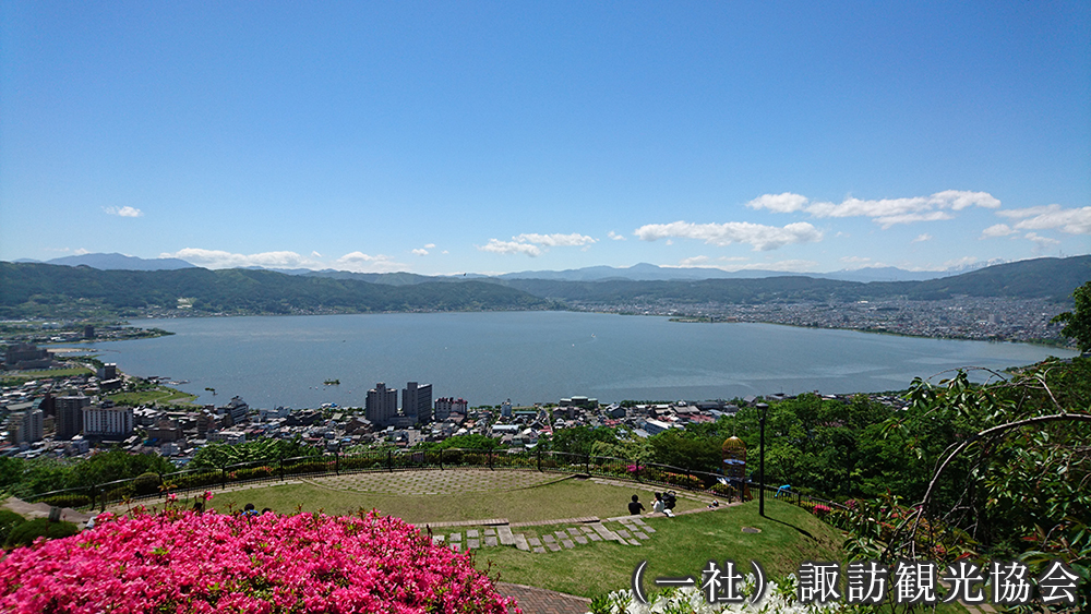 立石公園からの眺望 (一社)諏訪観光協会