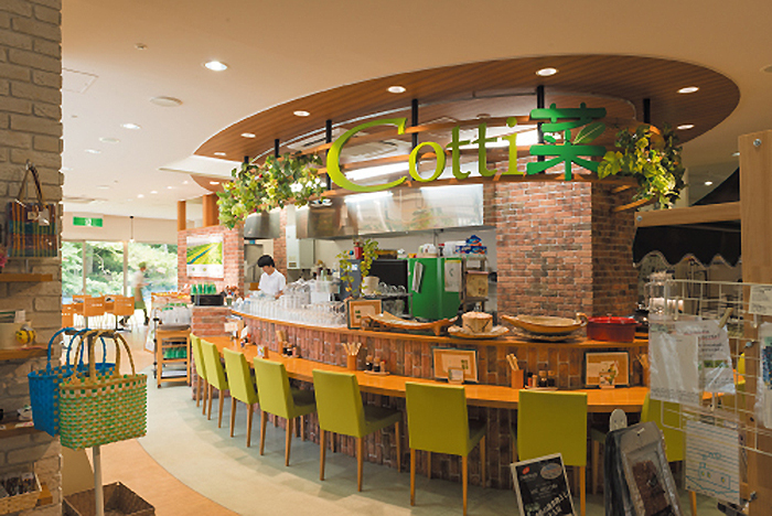 今年新たに加わった飲食店『ステップアップカフェCotti菜』では、自社農園の採れたて野菜を使ったメニューがいただける 撮影:松原豊