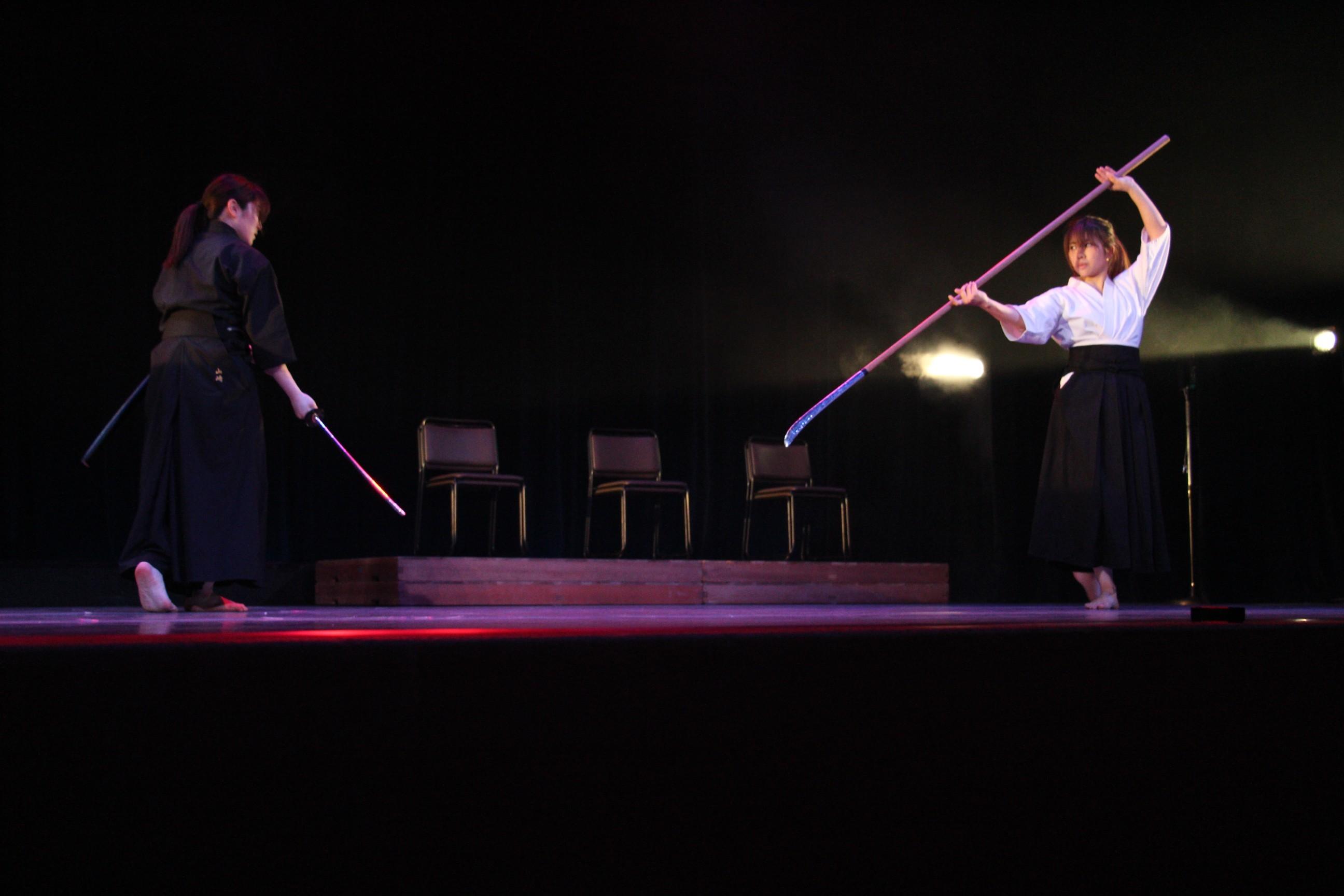 JAE所属のスタントマンらによる演舞も行われた