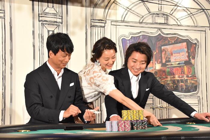 椎名桔平、中越典子、藤原竜也(左から)