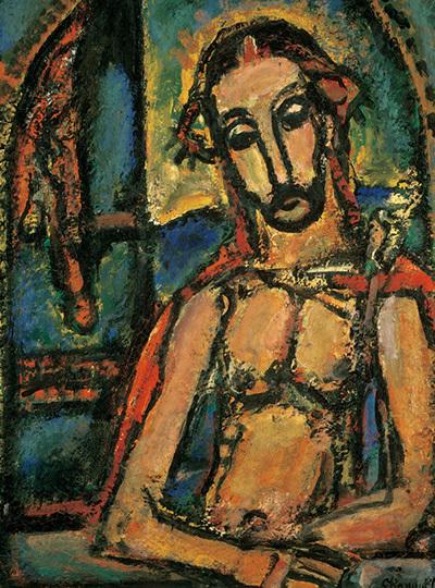 《受難 (エッケ・ホモ)》1947-49年 油彩 ポンピドゥー・センター パリ国立近代美術館蔵