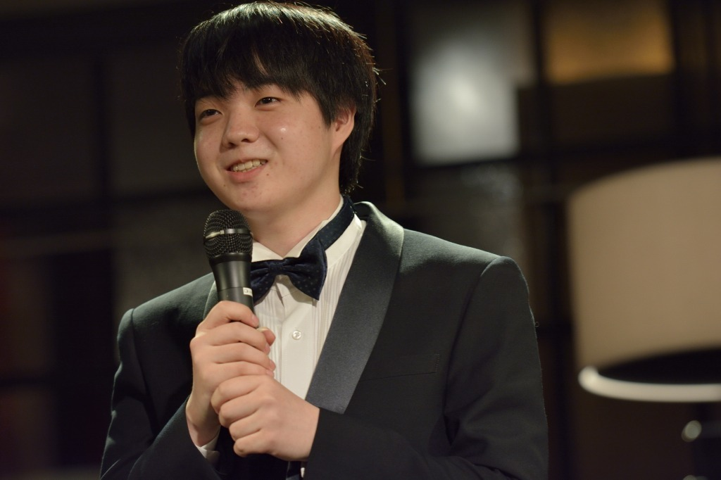 MC中の藤田  撮影=藤田真央
