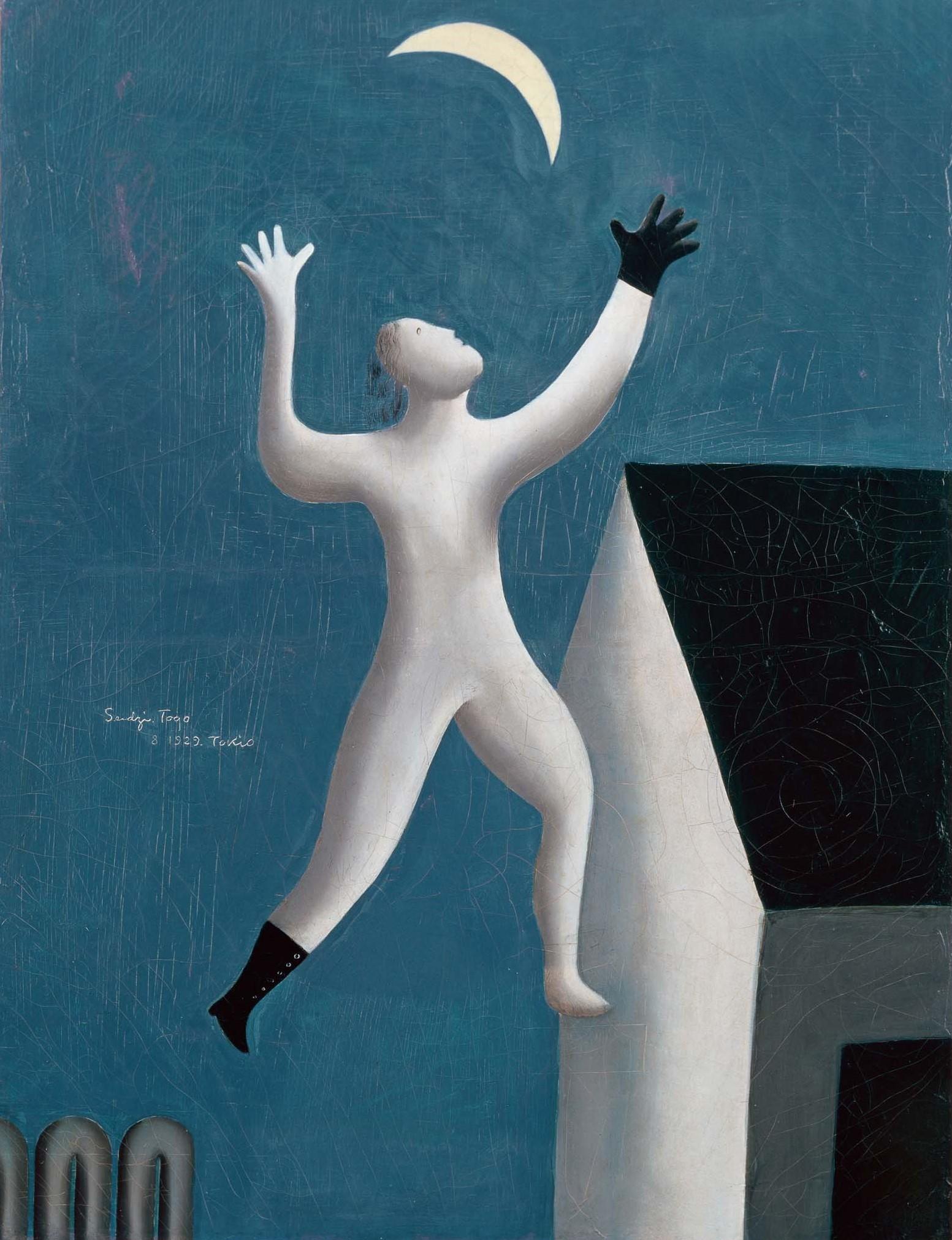 東郷青児《超現実派の散歩》1929年 油彩・キャンヴァス (C)Sompo' Museum of Art, 18025 東郷青児記念 損保ジャパン日本興亜美術館