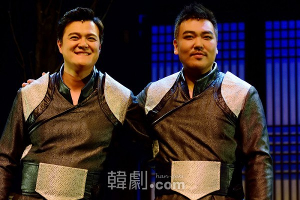 雲長(ウンジャン)役のユン・ソグォンとシム・ジェヒョン