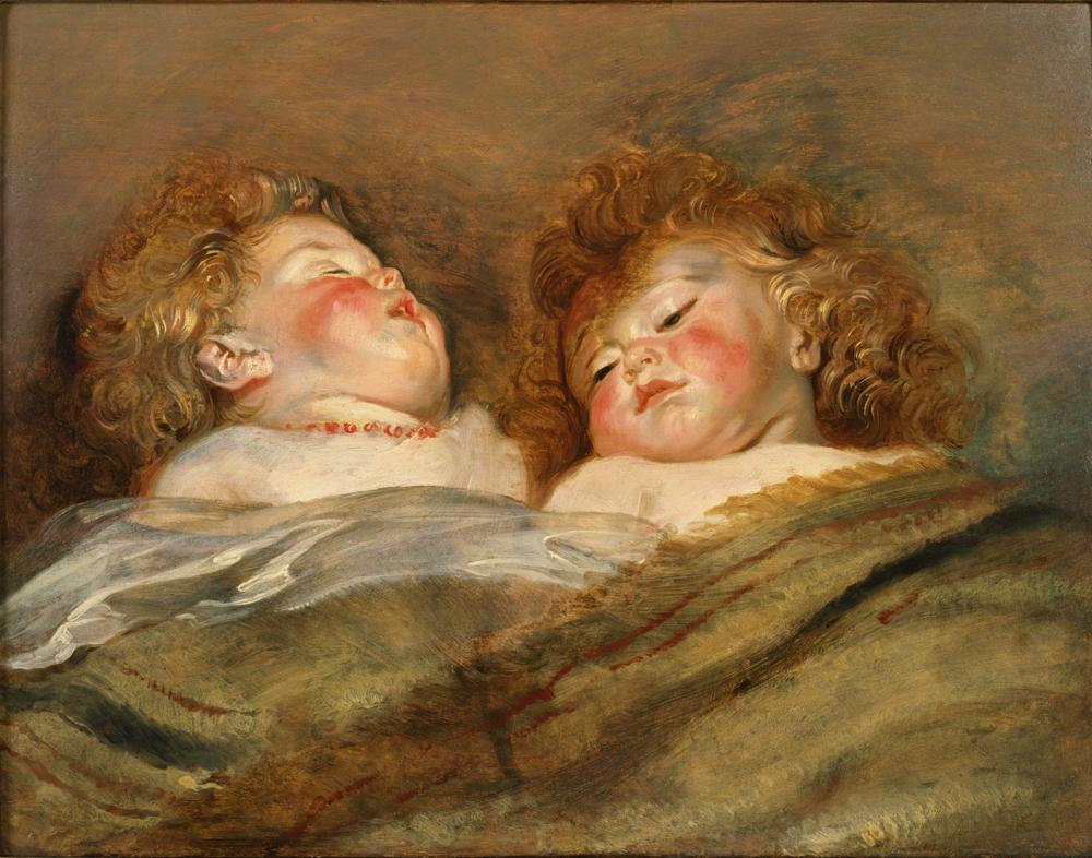 ペーテル・パウル・ルーベンス《眠る二人の子供》 東京、国立西洋美術館
