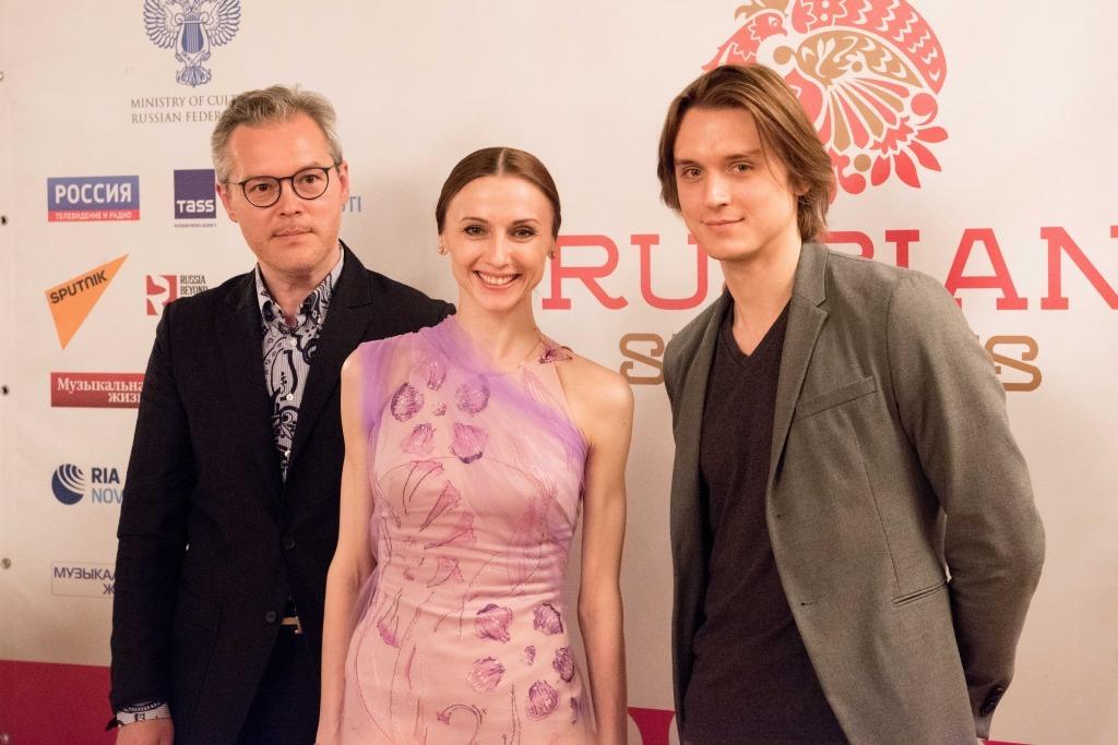 (左から)ワディム・レーピン、スヴェトラーナ・ザハーロワ、デニス・ロヂキン