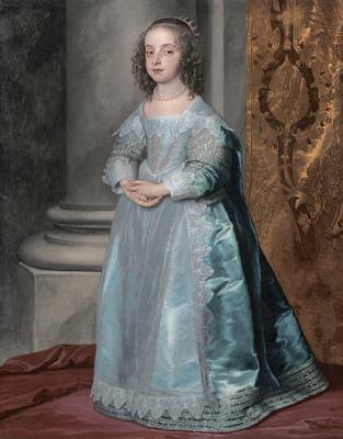 アンソニー・ヴァン・ダイク《メアリー王女、チャールズ1世の娘》1637年頃  Museum of Fine Arts, Boston, Given in memory of Governor Alvan T. Fuller by the Fuller Foundation