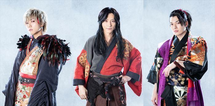 (左から)安井謙太郎(十蘭)、鈴木拡樹(久坂幻士郎)、崎山つばさ(庄司新之助) (C)2020 toei-movie-st