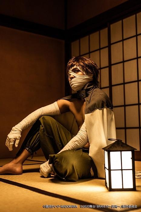 弐虎役:喜多野章太郎 (C)霜⽉かいり・KADOKAWA (C)2020 舞台「BRAVE10〜昇焉〜」製作委員会