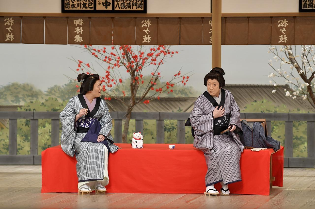 第一部『お江戸みやげ』(左より)おゆう=中村勘九郎、お辻=中村芝翫 /(C)松竹
