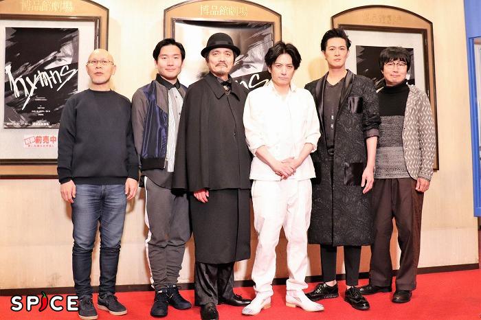 (左から)鈴木勝秀、山岸門人、陰山泰、佐藤アツヒロ、新納慎也、中山祐一朗