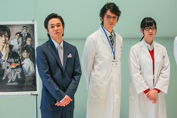 (左から)間慎太郎、村上幸平、前島亜美。 (C)CAPCOM CO.,LTD.2019 ALL RIGHTS RESERVED.