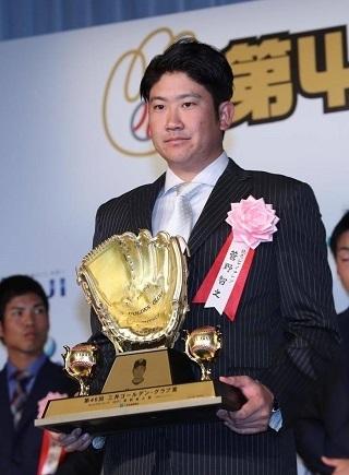 2年連続2回目の受賞となった菅野智之投手