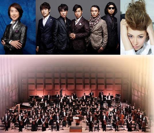 上段:渡辺俊幸・ゴスペラーズ・GILLE、下段:THE ORCHESTRA JAPAN