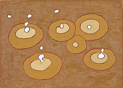 熊谷守一 《雨滴》 1961年 愛知県美術館 木村定三コレクション