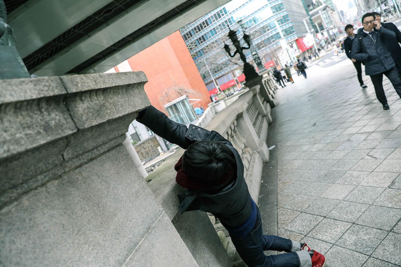 辿りついた先は日本橋・麒麟像