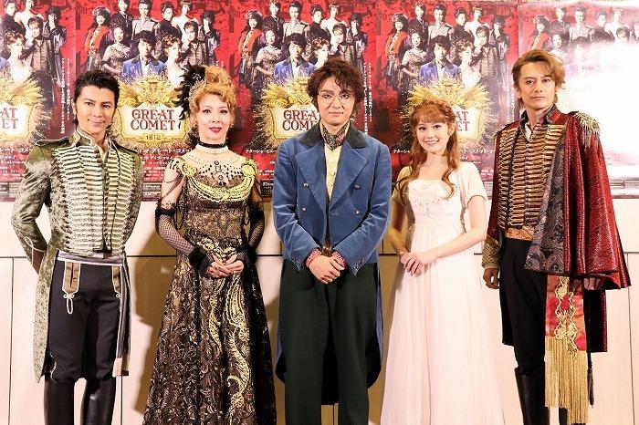 (左から)武田真治、霧矢大夢、井上芳雄、生田絵梨花、小西遼生