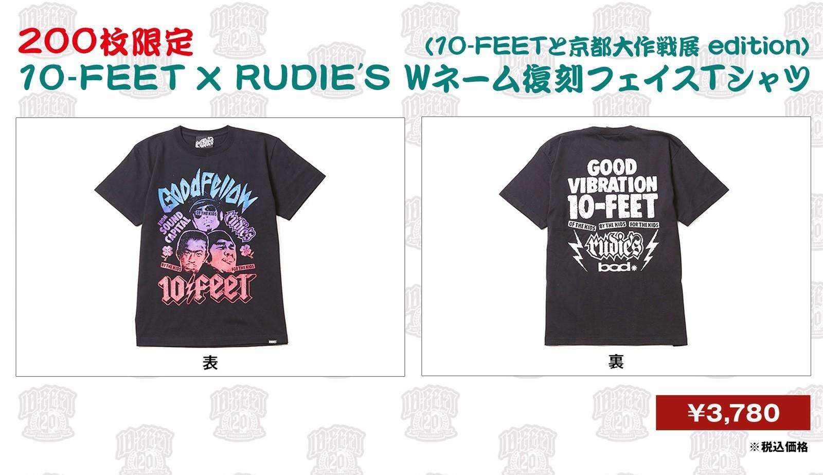 10-FEET × RUDIE'S Wネーム復刻フェイスTシャツ