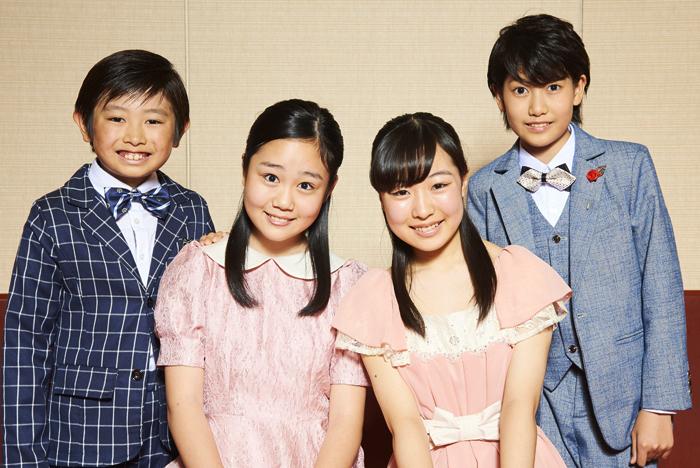 (左から)鈴木葵椎、上垣ひなた、池田葵、大東リッキー