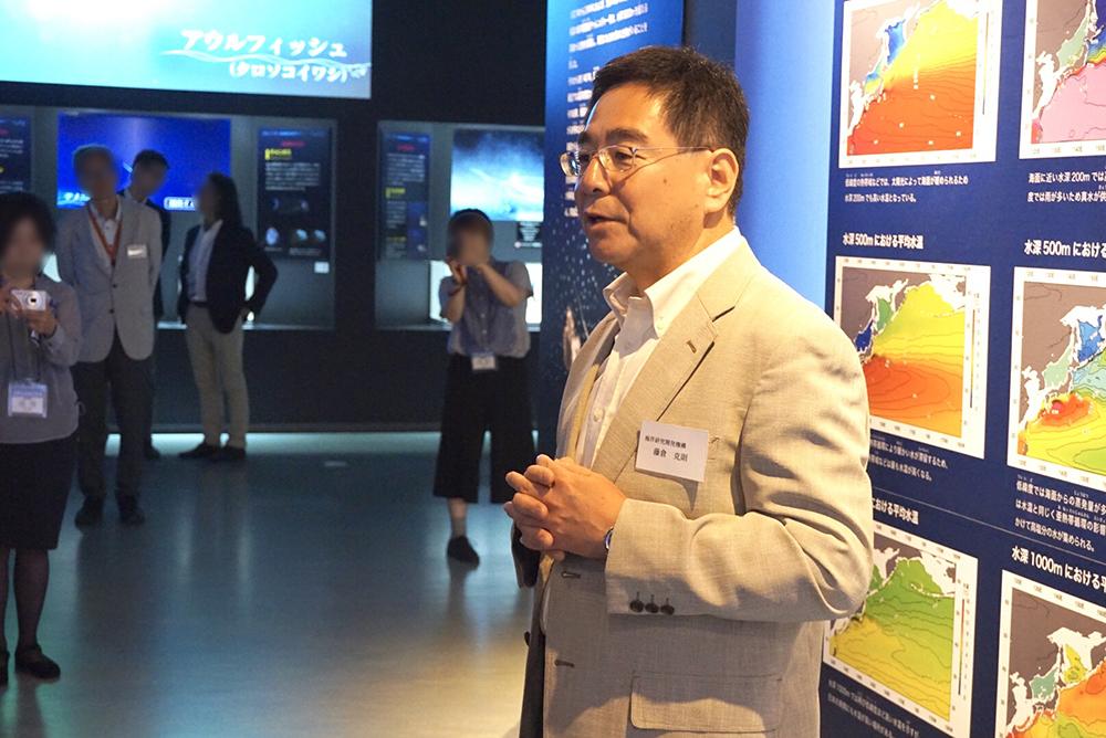本展監修・海洋研究開発機構 海洋生物多様性研究分野長 藤倉克則氏
