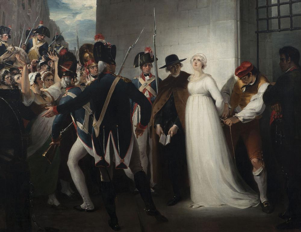 """ウィリアム・ハミルトン『1793年10月16日、死刑に処されるマリー・アントワネット』1794年 ヴィジル、フランス革命美術館  """"©Coll. Musée de la Révolution française/ Domaine de Vizille"""""""