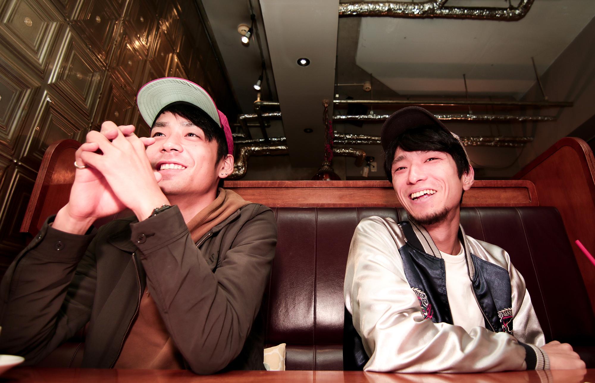 (左から)GIMA☆KENTA(Gt/Vo)、カネシロマサヒデ(Gt/Vo)