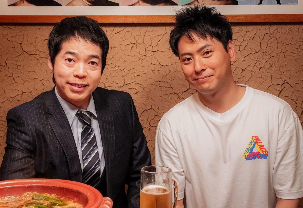 左から、今田耕司、山下健二郎(三代目 J SOUL BROTHERS from EXILE TRIBE) (C)2020映画「八王子ゾンビーズ」製作委員会