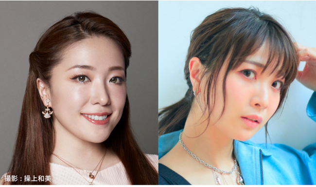 (左から)平原綾香、May'n  (C)ホリプロ