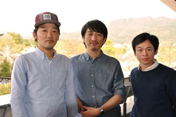 (左から)土佐和成(ヨーロッパ企画)、岩井秀人(ハイバイ)、永野宗典(ヨーロッパ企画)