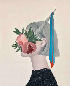 榎本マリコ展『Flowery Ghosts』 肖像に植物や静物モチーフを組み合わせる