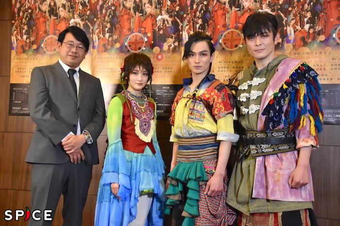脚本・演出の毛利亘宏、生駒里奈、松田凌、井俣太良(左から)