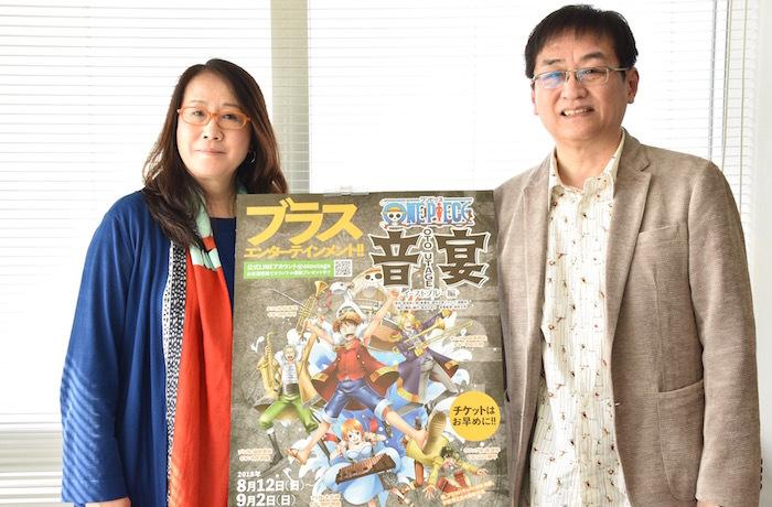 金谷かほりと田中公平(左から)