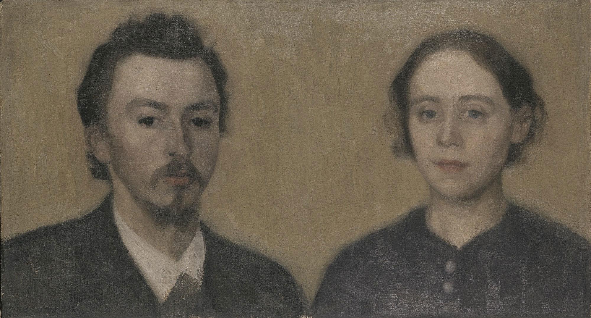 ヴィルヘルム・ハマスホイ 《画家と妻の肖像、パリ》 1892年 デーヴィズ・コレクション蔵 The David Collection, Copenhagen