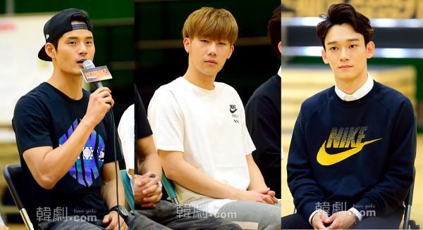 (写真左から)ベニー役のソ・ギョンス、キム・ソンギュ、チェン