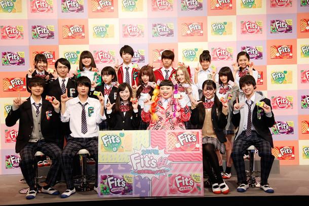 「2年F組 Fit's組」発表会の様子。