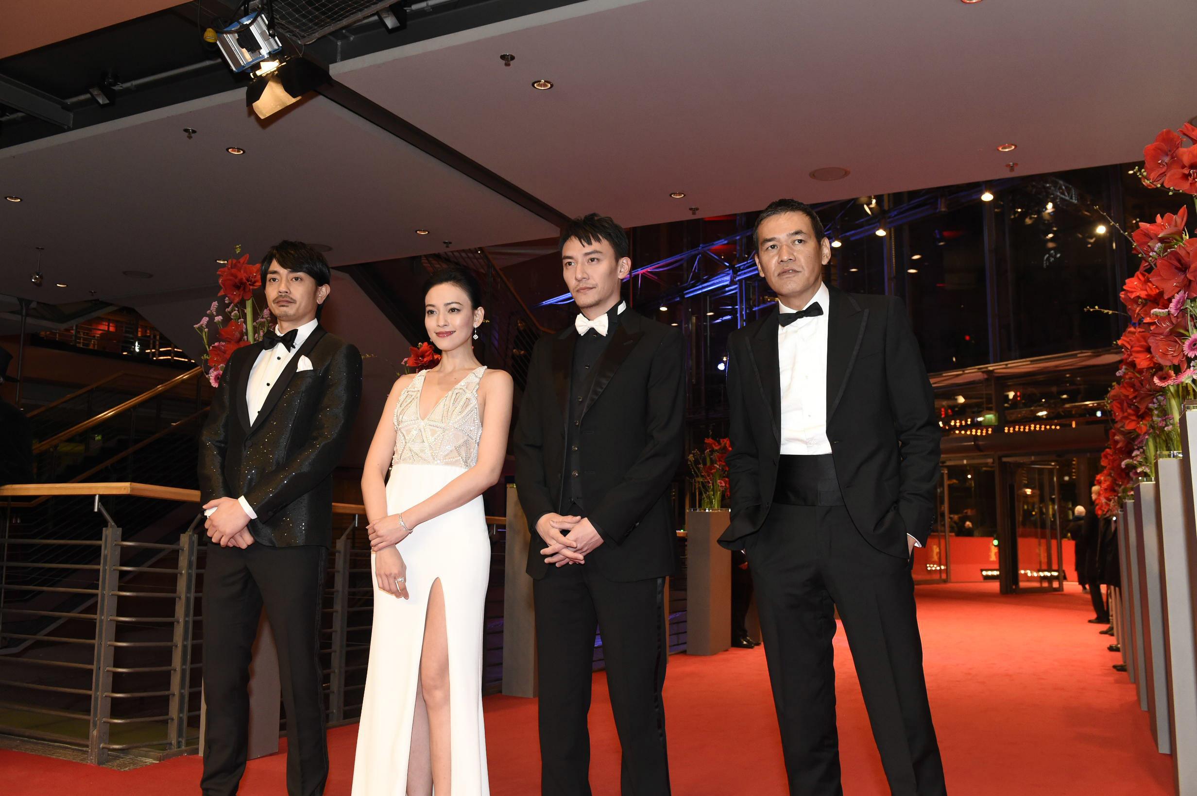 左から、青柳翔(劇団EXILE)、イレブン・ヤオ、チャン・チェン、SABU監督