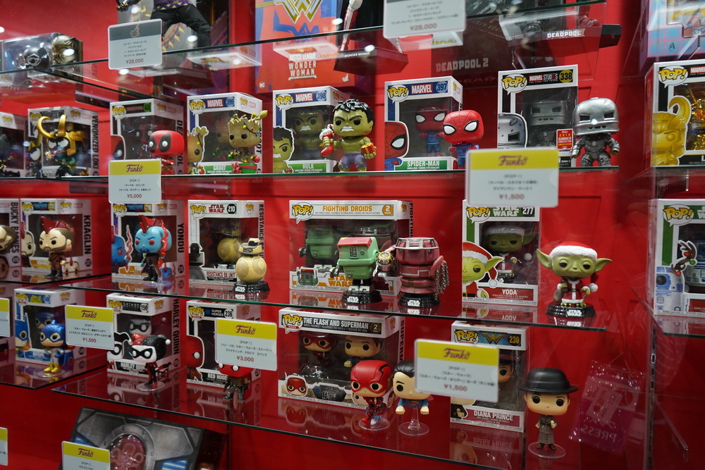 アメリカンコミックフィギュアで人気の「Hot Toys」ブース