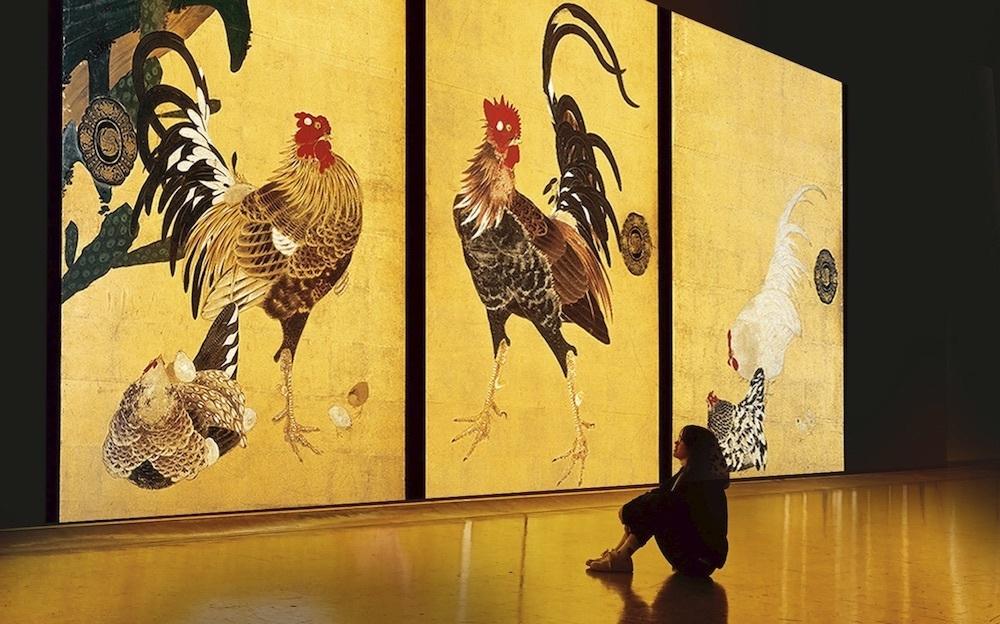 『「巨大映像で迫る五大絵師」−北斎・広重・宗達・光琳・若冲の世界−』※会場イメージ